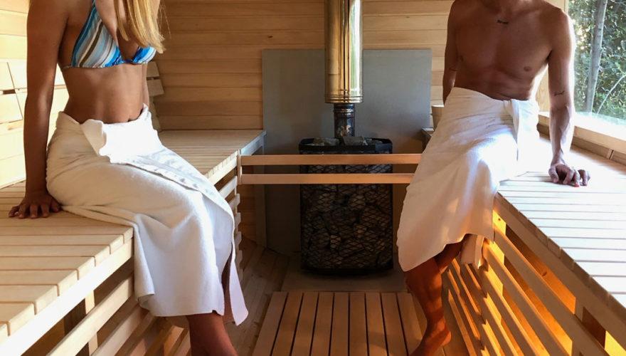 Sauna finlandese in legno
