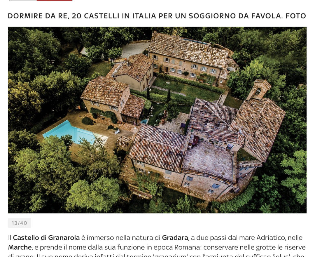 Granarola Castle on SKY TG 24
