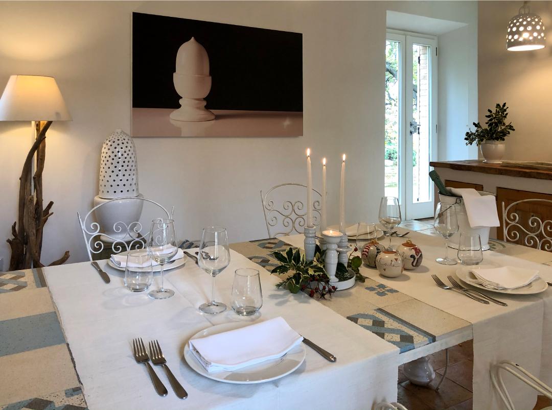 Dinner at Granarola Castle - room White Maiolica